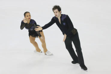 Zoe Jones and Christopher Boyadji skating for GBR!